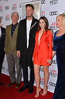 "LOS ANGELES, CA. November 08, 2018: Sam Waterston, Armie Hammer & Felicity Jones at the AFI Fest 2018 world premiere of ""On the Basis of Sex"" at the TCL Chinese Theatre.<br /> Picture: Paul Smith/Featureflash"