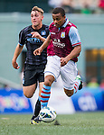 Manchester City plays Aston Villa during the HKFC Citibank International Soccer Sevens at the Hong Kong Football Club on 26 May 2013 in Hong Kong, China. Photo by Victor Fraile / The Power of Sport Images