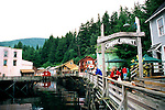 Ketchikan - Creek Street, Alaska, Shopping At The Former Brothel Houses Now Shops