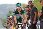 Rafal Majka (POL) Bora-Hansgrohe crosses the finish line in 5th place at the end of Stage 7 of La Vuelta 2019 running 183.2km from Onda to Mas de la Costa, Spain. 30th August 2019.<br /> Picture: Colin Flockton | Cyclefile<br /> <br /> All photos usage must carry mandatory copyright credit (© Cyclefile | Colin Flockton)