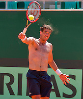 Austria, Kitzbuhel, Juli 15, 2015, Tennis, Davis Cup, Training Dutch team, Jesse Huta Galung<br /> Photo: Tennisimages/Henk Koster