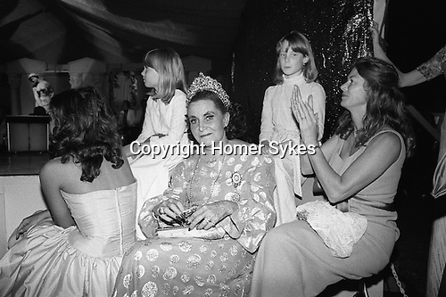 Grandma is wearing her tiara at the Berkeley Square Ball. London 1981.