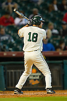 Cal Towey #18 of the Baylor Bears at bat against the Utah Utes at Minute Maid Park on March 5, 2011 in Houston, Texas.  Photo by Brian Westerholt / Four Seam Images