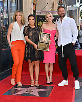 Felicity Huffman, Eva Longoria, Anna Faris &amp; Ricky Martin at the Hollywood Walk of Fame Star Ceremony honoring actress Eva Longoria, Los Angeles, USA 16 April 2018<br /> Picture: Paul Smith/Featureflash/SilverHub 0208 004 5359 sales@silverhubmedia.com