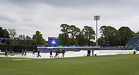 Covers on, forecast not good and the ground staff mopping up in earnest during Afghanistan vs Sri Lanka, ICC World Cup Cricket at Sophia Gardens Cardiff on 4th June 2019