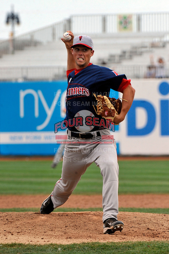 Lowell Spinners pitcher Matty Ott #26 during game against the Brooklyn Cyclones at MCU Park on July 18, 2011 in Brooklyn, NY.  Lowell defeated Brooklyn 11-5.  Tomasso DeRosa/Four Seam Images