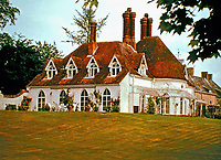 Houghton Lodge, a fishing lodge on the River Test in Hampshire, England which was built c.1800. Possibly designed by John Nash.