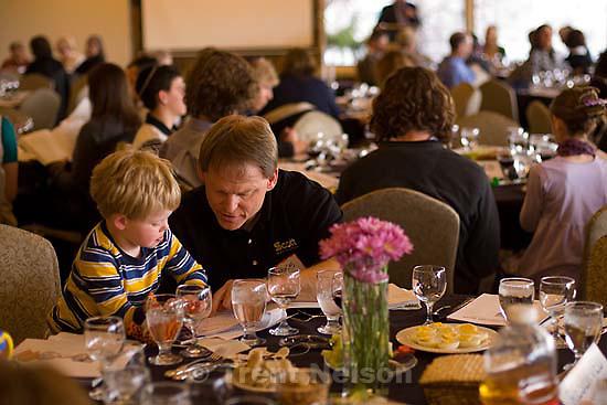 Salt Lake City - Passover Seder at Jewish Community Center, Wednesday April 8, 2009..