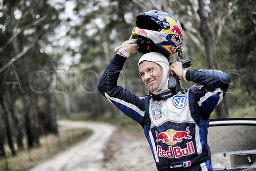 11.09.2015. WRC Rally of Australia.  Sebastien OGIER completes the stage