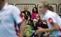 17 OCT 2009 - LOUGHBOROUGH, GBR - Spectators watch Anthony Clark and Donna Kellogg during their mixed doubles match at the Team England v Japan International (PHOTO (C) NIGEL FARROW)