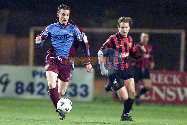 Drogheda's Mark Quinlas in posession against Bohemians in Dalymount Park..Picture: Paul Mohan/Newsfile
