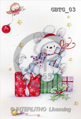 Theresa, CHRISTMAS ANIMALS, paintings(GBTG03,#XA#) Weihnachten, Navidad, illustrations, pinturas