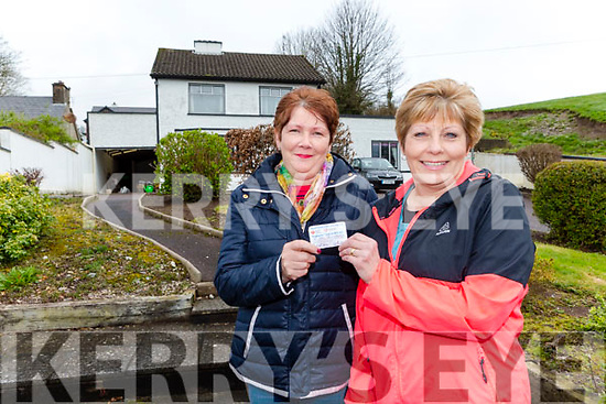 Eileen Finnegan and Margaret Doran neighbours of Michael Healy Rae who rescued him after chicken got stuck in his troat