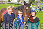 Sharon Clifford, Brendan Sweeney and Cliona O'Shea Killorglin with their horse River Laune Lanco  at the Killorglin Pony show on Sunday..