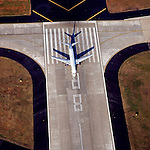 Hartsfield-Jackson Atlanta International Airport Runway Delta Airlines Boeiing helicopter aerial