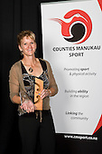 Coach of the Year winner Kirsten Hellier. Counties Manukau Sport 17th annual Sporting Excellence Awards held at the Telstra Clear Pacific Events Centre, Manukau City, on November 27th 2008.