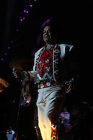 El cantante Juan Gabriel , durante su concierto  en la noche de grito de independencia de Mexico llevado a cabo en el  The Axis Powered by Monster at Planet Hollywood, Las Vegas<br />
