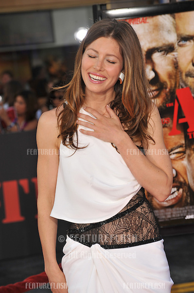 """Jessica Biel at the Los Angeles premiere of her new movie """"The A-Team"""" at Grauman's Chinese Theatre, Hollywood..June 3, 2010  Los Angeles, CA.Picture: Paul Smith / Featureflash"""