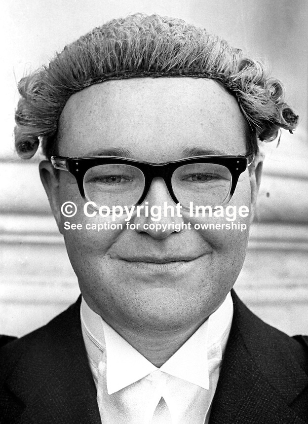 Michael Long, barrister, N  Ireland, May 1976. 197605110246.<br />