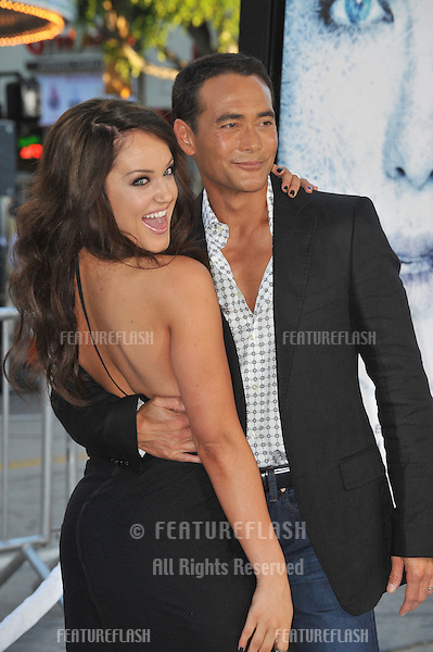 """Mark Dacascos & Lacey Schwimmer at the Los Angeles premiere of """"Whiteout"""" at Mann Village Theatre, Westwood..September 9, 2009.September 9, 2009  Los Angeles, CA.Picture: Paul Smith / Featureflash"""