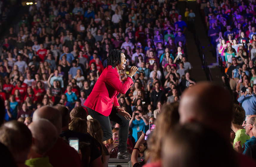 Newsboys featuring Audio Adrenaline and Finding Favor played in the Vines Center during CFAW's concert April 11th, 2015. (Photo by David Duncan)