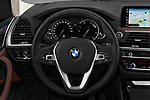 Car pictures of steering wheel view of a 2018 BMW X3 xLine 5 Door SUV