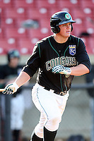 Murray Watts (34) of the Kane County Cougars during a game against the Clinton LumberKings at Elfstrom Stadium on April 23, 2011 in Geneva, Illinois. Photo by Chris Proctor/Four Seam Images