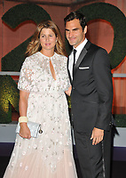 Mirka Federer and Roger Federer, 2017 Men's Singles Champion at the Wimbledon Champions Dinner, The Guildhall, Gresham Street, London, England, UK, on Sunday 16 July 2017.<br /> CAP/CAN<br /> &copy;CAN/Capital Pictures /MediaPunch ***NORTH AND SOUTH AMERICAS ONLY***