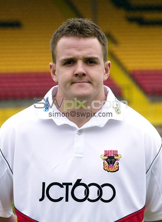 Pix: Matthew Lewis/SWpix.com. Rugby League. Bradford Bulls Pre-Season Photocall 2003/04. 06/02/2003...COPYRIGHT PICTURE>>SIMON WILKINSON>>01943 436649>>..Bradford's Vinnie Myler.