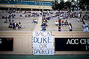 September 6, 2008. Durham, NC..  College football in the Triangle..Duke University lost a home game 20- 24 to Northwestern.
