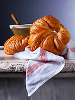Butter Croissants. French Traditional
