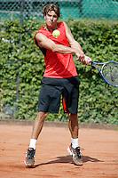 16-8-06,Amsterdam, Tennis, NK, First round match, Peter Lucassen