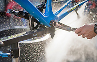 Team Wanty - Groupe Gobert's post-race bike cleaning<br /> <br /> 115th Paris-Roubaix 2017 (1.UWT)<br /> One Day Race: Compi&egrave;gne &rsaquo; Roubaix (257km)
