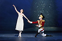 London, UK. 13.12.2016. English National Ballet presents NUTCRACKER, at the London Coliseum. Choreography by Wayne Eagling, based on a concept by Toer van Schayk and Wayne Eagling, music by Pyotr Ilyich Tchaikovsky, design by Peter Farmer, lighting by David Richardson. Picture shows: Alina Cojocaru (Clara), James Forbat (Nutcracker). Photograph © Jane Hobson.,