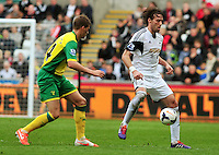 Swansea v Norwich, Liberty Stadium, Saturday 29th march 2014...<br /> <br /> <br /> <br /> Swansea's Michu on the ball.