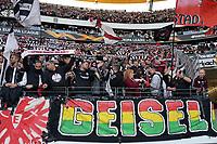 Fans von Eintracht Frankfurt jubeln ihrem Team zu - 19.09.2019:  Eintracht Frankfurt vs. Arsenal London, UEFA Europa League, Gruppenphase, Commerzbank Arena<br /> DISCLAIMER: DFL regulations prohibit any use of photographs as image sequences and/or quasi-video.