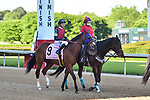 April 18, 2020:Horologist (9) with jockey Tyler Baze aboard during the Apple Blossom Handicap at Oaklawn Racing Casino Resort in Hot Springs, Arkansas on April 18, 2020. Ted McClenning/Eclipse Sportswire/CSM