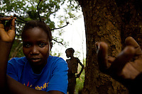 Portrait. Congolese refugees in Makpandu camp, South Sudan.