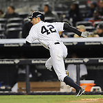 Ichiro Suzuki (Yankees),<br /> APRIL 16, 2014 - MLB : Ichiro Suzuki of the New York Yankees in action during the during the Major League Baseball interleague doubleheader game 2 against the Chicago Cubs at Yankee Stadium in the Bronx, NY, USA.<br /> (Photo by AFLO)