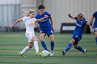 Seattle, WA - Saturday July 16, 2016: McCall Zerboni, Keelin Winters, Jessica Fishlock during a regular season National Women's Soccer League (NWSL) match between the Seattle Reign FC and the Western New York Flash at Memorial Stadium.