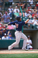 Pawtucket Red Sox designated hitter Chris Marrero (21) at bat during a game against the Rochester Red Wings on June 29, 2016 at Frontier Field in Rochester, New York.  Pawtucket defeated Rochester 3-2.  (Mike Janes/Four Seam Images)