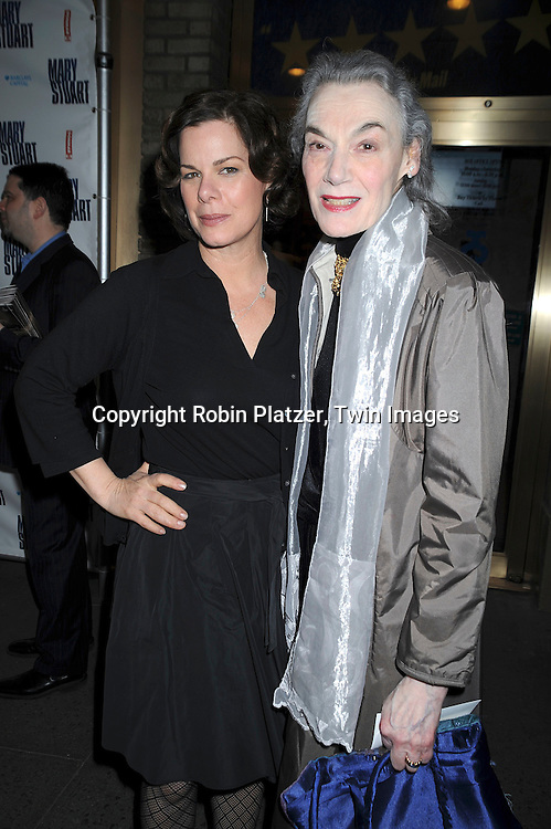 Marion Seldes & Marcia Gay Harden