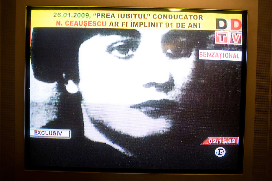 ROMANIA / Bucharest / 26.01.2009..A television screen shot of Elena Ceausescu, wife of Romanian Communist dictator Nicolae Ceausescu. Romanian television played a documentary about his rule of Romania on the occasion of his birthday, 26 January. Ceausescu would have been 91 years-old in 2009, but he and his wife were executed by firing squad on Christmas day 1989 during the Romanian revolution. Romania experienced the most oppressive of the former Eastern Bloc's Communist regimes and by the late 1980s shops were empty of food, the imfamous secret police called the Securitate had created a police state and Ceausescu had launched grandisose Communist building projects modeled after North Korea that involved leveling one fifth of historic Bucharest...© Davin Ellicson / Anzenberger