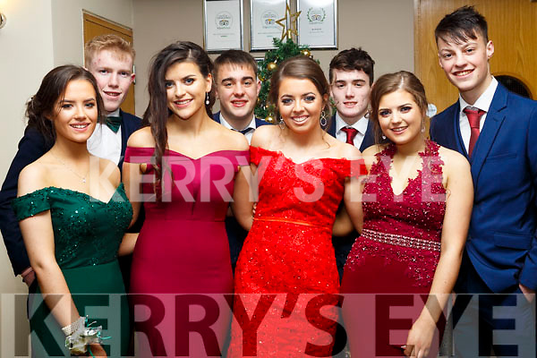 Attending the Gaelcholáiste Chiarrai Debs in the Ballyroe Heights Hotel on Tuesday night last, l to r, Mairead Fitzgerald, Conor O'Keefe, Roisin Curry, Ryan O'Neill, Grainne Finnegan, Jack O'Connor, Caoimhe Moore and Paul Walsh.