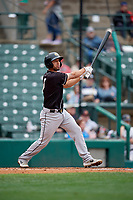 Charlotte Knights Seby Zavala (5) at bat during an International League game against the Rochester Red Wings on June 16, 2019 at Frontier Field in Rochester, New York.  Rochester defeated Charlotte 11-5 in the first game of a doubleheader that was a continuation of a game postponed the day prior due to inclement weather.  (Mike Janes/Four Seam Images)