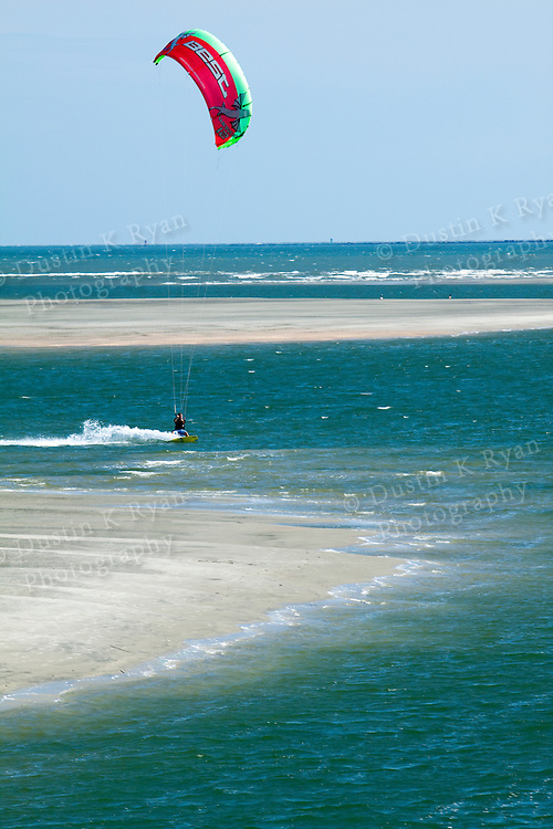 Kiteboarding at Breach Inlet Sullivans Island South Carolina