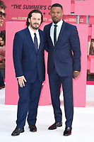 "writer/director Edgar Wright and Jamie Foxx<br /> at the ""Baby Driver"" premiere, Cineworld Empire Leicester Square, London. <br /> <br /> <br /> ©Ash Knotek  D3285  21/06/2017"