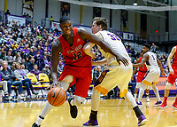 Stony Brook defeats UAlbany  69-60 in the America East Conference tournament quaterfinals at the  SEFCU Arena, Mar. 3, 2018.  Tyrell Sturdivant (#12).