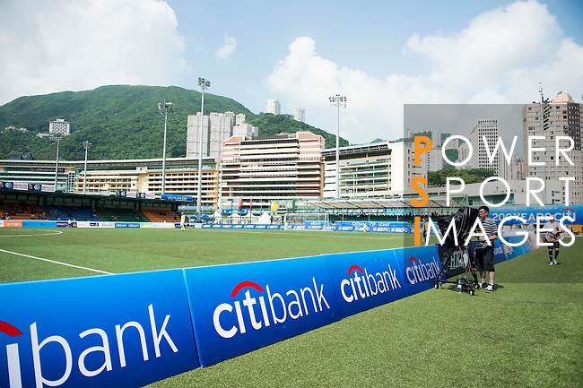 Action at Hong Kong Football Club Stadium on Day 3 of the HKFC Citibank International Soccer Sevens 2012 on May 20, 2012 in Hong Kong. Photo by Raf Sanchez / The Power of Sport Images for HKFC