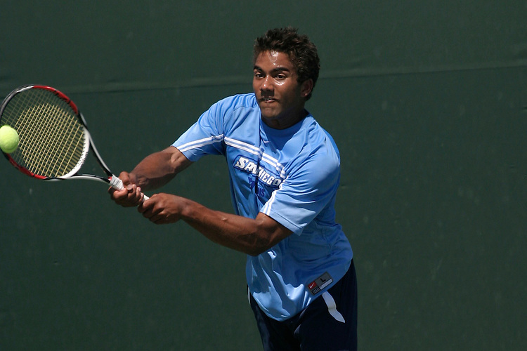 SAN DIEGO, CA - APRIL 19:  Dean Jackson of the USD Toreros after day three of the West Coast Conference Tennis Championships on April 19, 2009 at the Barnes Tennis Center in San Diego, California.